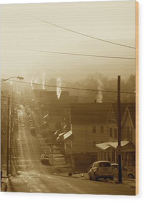 Cold Coal Town Morning Wood Print by Feva  Fotos