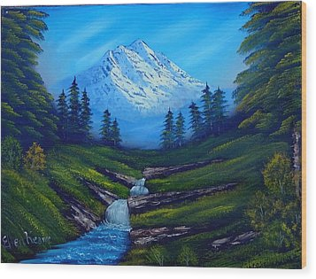 Cold Mountain Wood Print by Fineartist Ellen