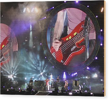 Coldplay - Sydney 2012 Wood Print by Chris Cousins