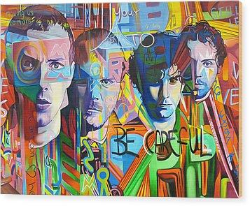 Coldplay Wood Print by Joshua Morton