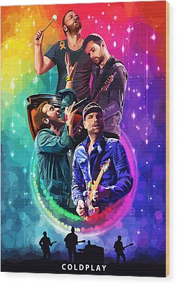 Coldplay Mylo Xyloto Wood Print by FHT Designs