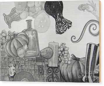 Collage Wood Print by CA Zajicek