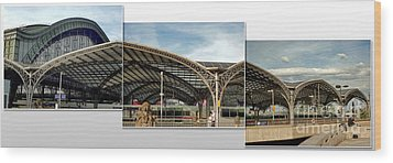 Cologne Central Train Station - Koln Hauptbahnhof - 02 Wood Print by Gregory Dyer