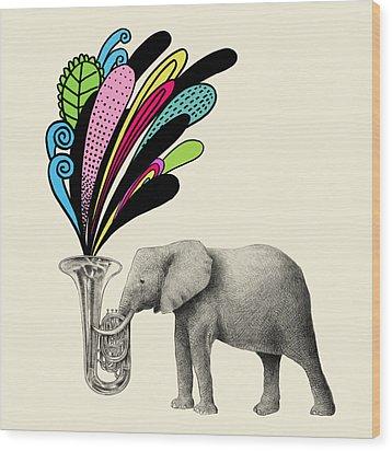 Color Burst Wood Print by Eric Fan