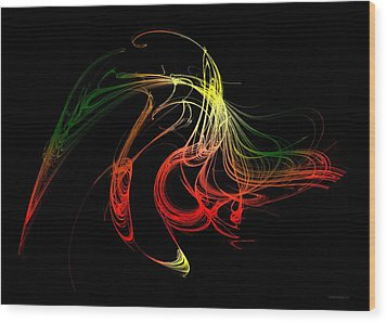 Color Design With Lines Wood Print by Mario Perez