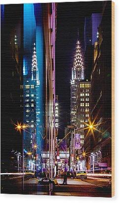 Color Of Manhattan Wood Print by Az Jackson