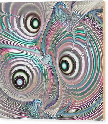 Color Waves Wood Print by Anastasiya Malakhova