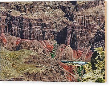 Colorado River In The Grand Canyon High Water Wood Print by Bob and Nadine Johnston