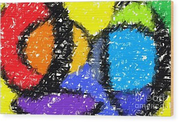 Colorful Abstract 3 Wood Print by Chris Butler