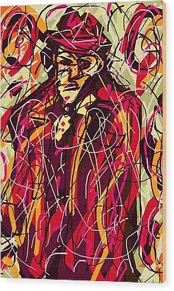 Colorful Suit Wood Print by Rachel Scott