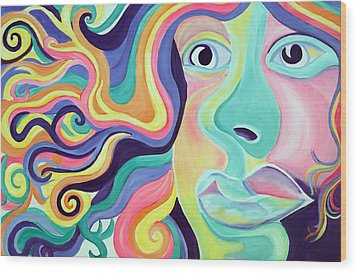 Colorful Thoughts Wood Print by Lorinda Fore