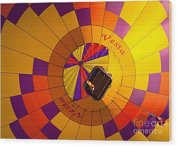 Colorful Underbelly Wood Print by Inge Johnsson