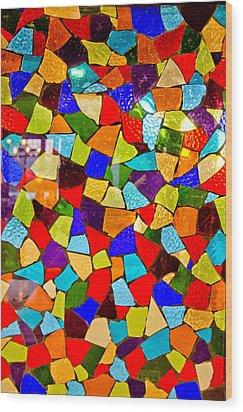 Colorful Visions Wood Print by Manu Singh