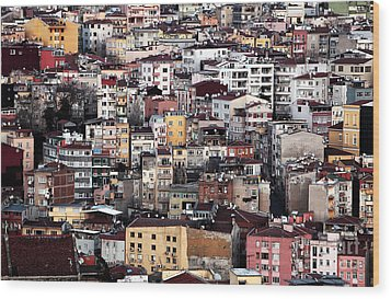 Colors Of Istanbul Wood Print by John Rizzuto