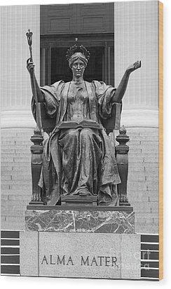 Columbia University Alma Mater Wood Print by University Icons