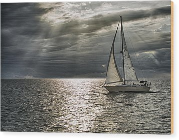 Come Sail Away Wood Print by Michael White