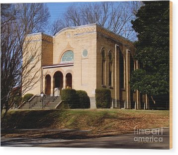 Congregation B'nai Isreal  Wood Print by Jerry Grissom