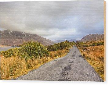 Connemara Roads - Irish Landscape Wood Print by Mark Tisdale