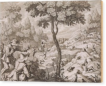 Cony Catching, Engraved By Wenceslaus Wood Print by Francis Barlow