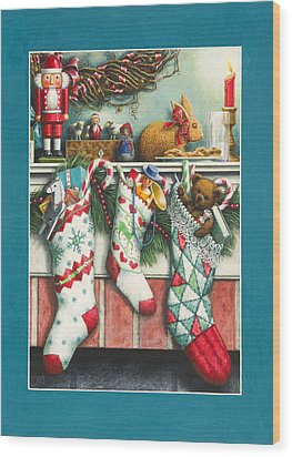 Cookies For Santa Wood Print by Lynn Bywaters