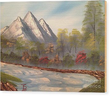 Cool Mountain River Wood Print by Tim Blankenship