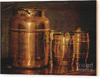 Copper Wood Print by Lois Bryan