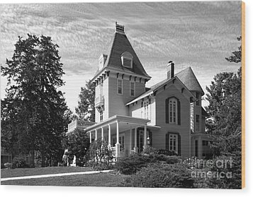 Cornell College President's House Wood Print by University Icons