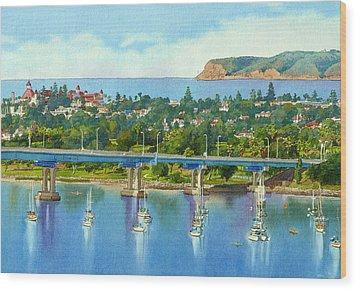 Coronado Island California Wood Print by Mary Helmreich