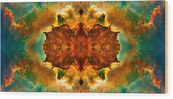 Cosmic Kaleidoscope 2  Wood Print by Jennifer Rondinelli Reilly - Fine Art Photography