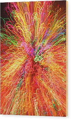 Cosmic Phenomenon Or Christmas Lights Wood Print by Barbara West
