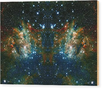 Cosmic Phoenix  Wood Print by Jennifer Rondinelli Reilly - Fine Art Photography