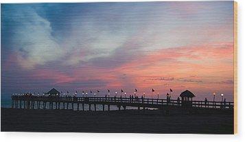 Costa Rican Sunset Wood Print by Adam Romanowicz