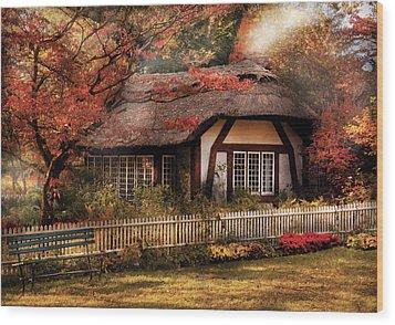 Cottage - Nana's House Wood Print by Mike Savad