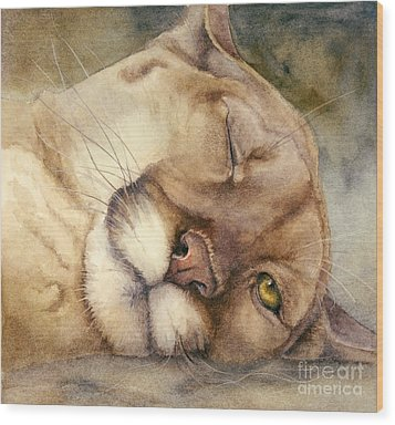 Cougar    I See You     Wood Print by Bonnie Rinier