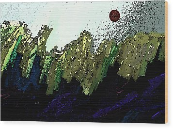 Country Abstract Wood Print by Lenore Senior