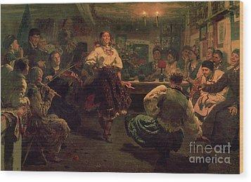 Country Festival Wood Print by Ilya Efimovich Repin
