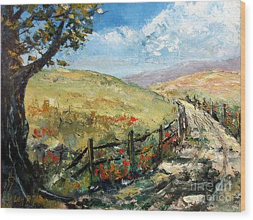 Country Road Wood Print by Lee Piper
