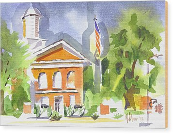 Courthouse Abstractions II Wood Print by Kip DeVore