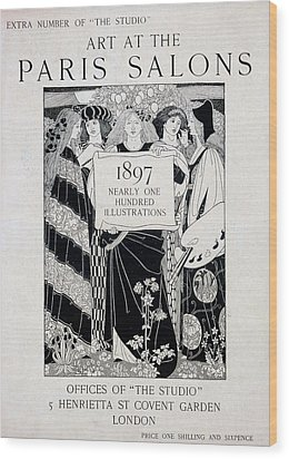 Cover For Art At The Paris Salons Wood Print by English School