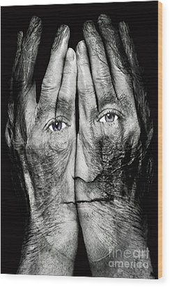 Cover Thy Faces Wood Print by Gary Keesler