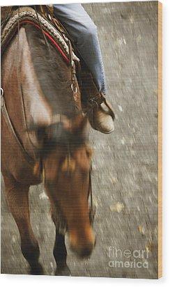 Cowboy Wood Print by Margie Hurwich