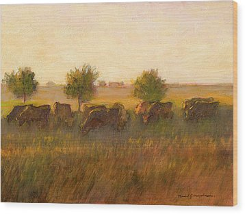 Cows1 Wood Print by J Reifsnyder