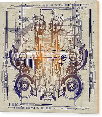 Cpu IIi Wood Print by Diuno Ashlee