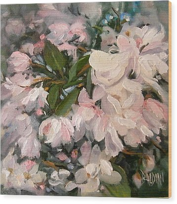 Crab Apple Blossoms Wood Print by J R Baldini