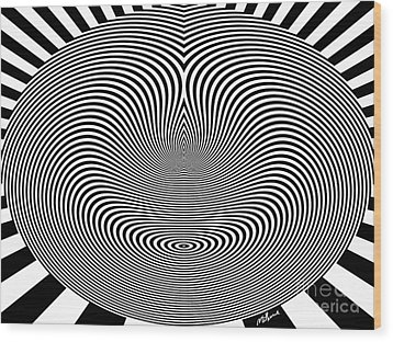 Crazy Circles Wood Print by Methune Hively