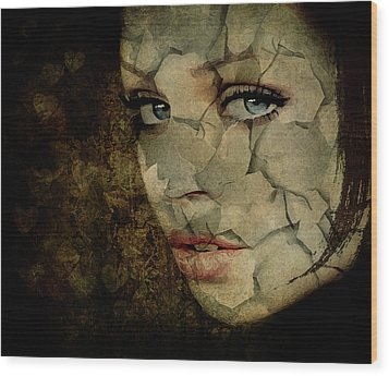 Cried For No One Wood Print by Marie  Gale