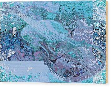 Cristal Violin Wood Print by Moustafa Al-Hatter