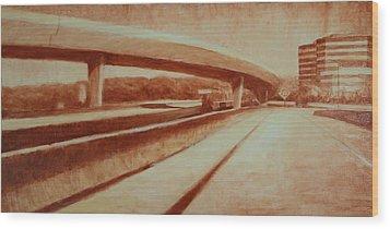 Crossroads Wood Print by Jeff Levitch