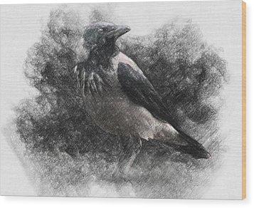 Crow Wood Print by Taylan Apukovska