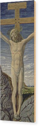 Crucifixion  Wood Print by Master of the Barberini Panels